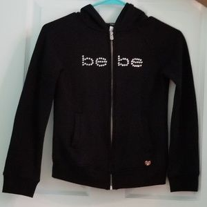Bebe Hooded Zipper Sweatshirt